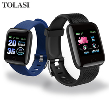 Smart Watches Men Women 116 Plus Heart Rate Watch Wristband Sports Band Waterproof Smartwatch Android