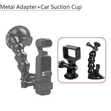 Soporte de ventosa de cristal para coche adaptador multifuncional de expansión accesorios de cámara Gimbal de mano para DJI Osmo Pocket