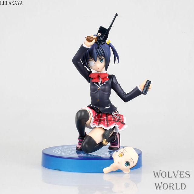 Dessin animé Chuunibyou démo Koi Ga shiai loeil à genoux Takanashi Rikka q-six figurine en PVC à collectionner modèle T2 Art girl