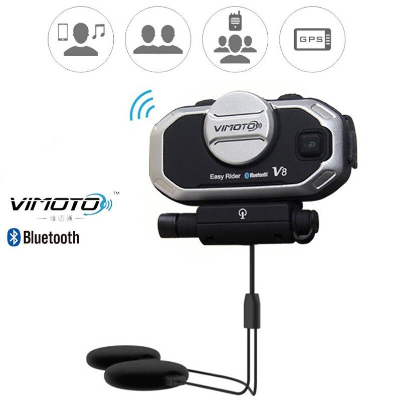 Angielska wersja Easy Rider vimoto V8 zestaw słuchawkowy Bluetooth do kasku motocyklowe słuchawki Stereo do telefonu komórkowego i radia GPS 2 Way