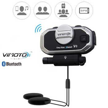 Englisch Version Easy Rider vimoto V8 Helm Bluetooth Headset Motorrad Stereo Kopfhörer Für Handy und GPS 2 Weg Radio