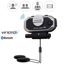 Versão inglesa Vimoto V8 capacete Bluetooth, easy rider, fone de ouvido estéreo de motocicleta, para celular e GPS, rádio de 2 vias