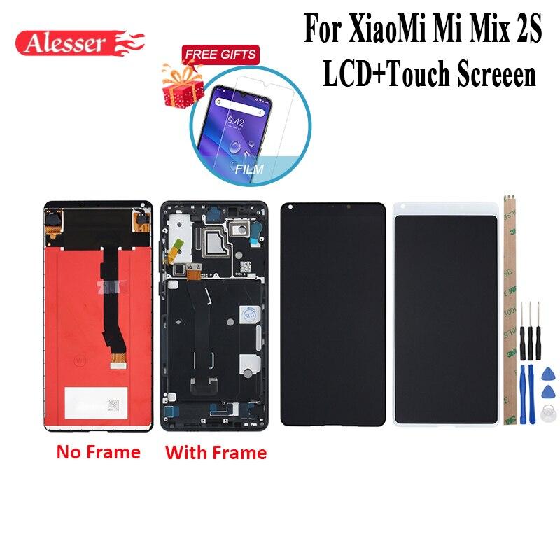 Alesser Voor XiaoMi Mi Mix 2S Lcd scherm en Touch Screen Met Frame + Film Reparatie Onderdelen + Gereedschap en Lijm Voor XiaoMi Mi Mix 2S-in LCD's voor mobiele telefoons van Mobiele telefoons & telecommunicatie op AliExpress - 11.11_Dubbel 11Vrijgezellendag 1