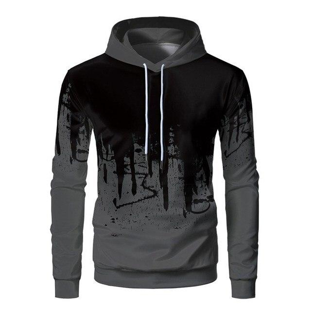 3D Printed Ink Sweatshirt Casual Hooded Pullover 5