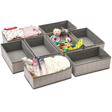 Storage Box, Small Foldable Household Desktop Storage Box Jewel Case Commodity Shelf, Gray