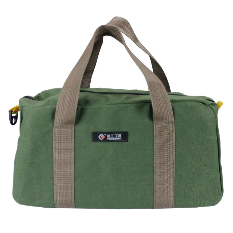 PENGGONG 12 Inch Waterproof Canvas Storage Bag Tool Portable Toolkit Hardware Parts Storage Bags Organizer Pouch Bag Case