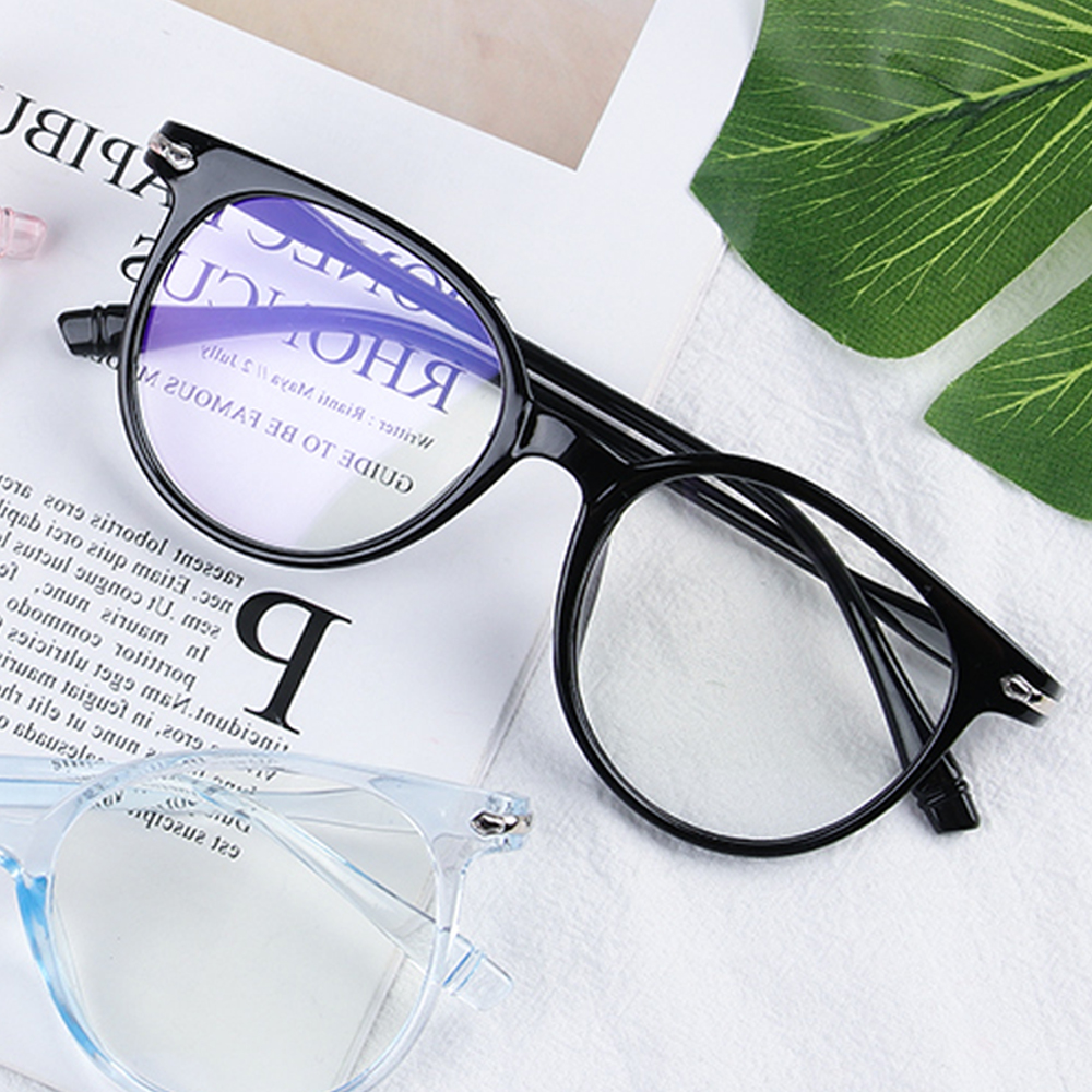Blue Light Blocking Spectacles Glasses Ultra Light Resin Glasses Computer Protection Eyewear Anti Blue Rays Round Glasses