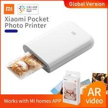 Global Version Xiaomi mijia AR Printer 300dpi Portable Photo Mini Pocket With DIY Share 500mAh picture pocket printer