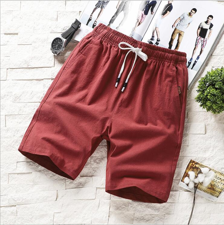 ZNG 2020  Summer Men's Shorts Summer Slim Fit Sports Five-part Pants Korean Version Of The Trend Seven-part