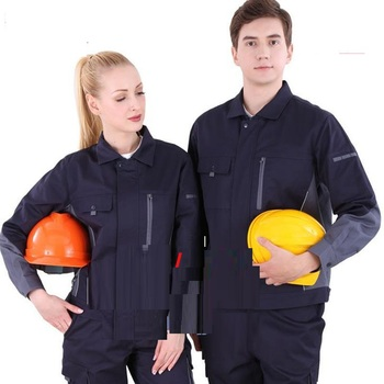 Anti-static Work clothes set male/female electrician repair Factory workshop uniforms gas station coveralls welding suits overal