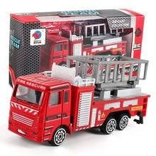 Caminhão de bombeiros engenharia brinquedo carro de mineração diecast metal modelo de construção veículo brinquedos para meninos natal presente de aniversário carro