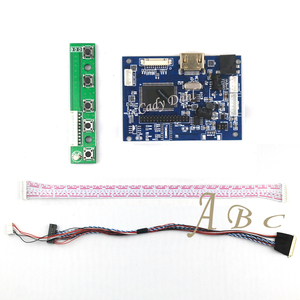 HDMI LVDS Controller Board + 40 Pins Lvds Cable Kit for Raspberry PI 3 LP156WH2 TLA1 TLE1 1366x768 1ch 6 bit TFT LCD Display(China)