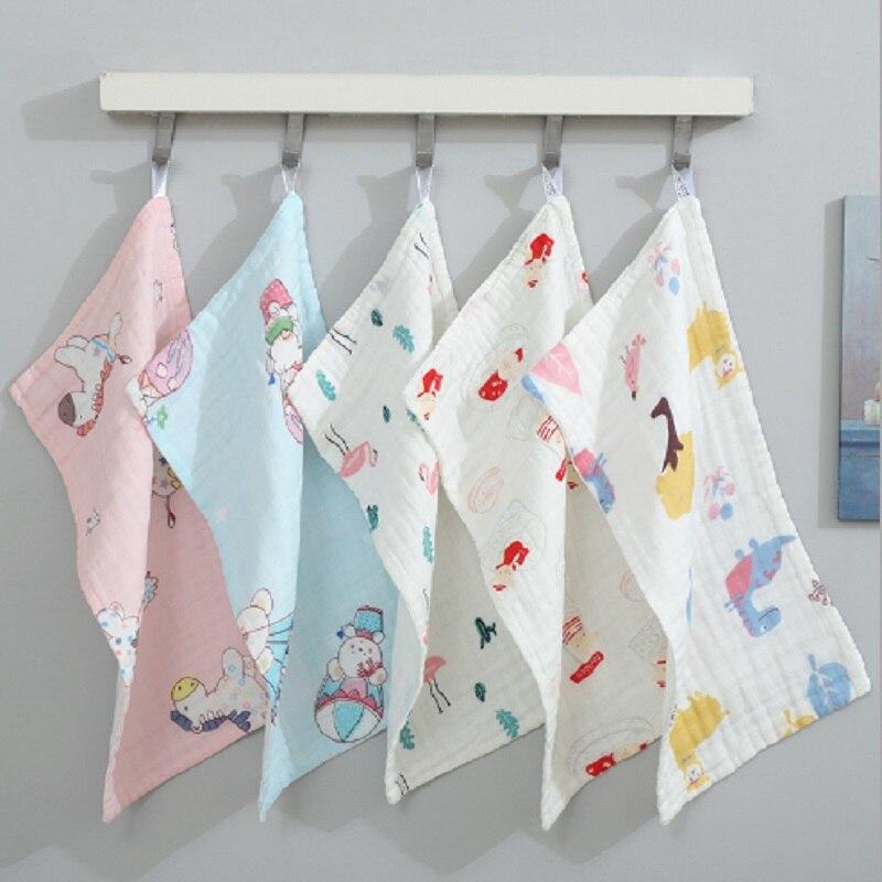 Baby Towel Cotton 6 Layers Gauze Newborn Infant Toddler Face Towel Hand Bathing Bibs Handkerchief Children Soft Towel 25*50cm