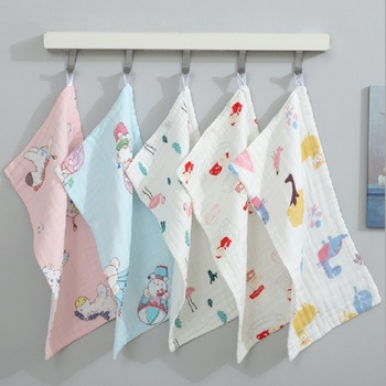 Baby Towel Cotton 6 layers Gauze Newborn Infant Toddler Face Towel Hand Bathing Bibs Handkerchief Children Soft Towel 25*50cm six layers of gauze cotton square towel children towel fold a handkerchief plain printed saliva towel