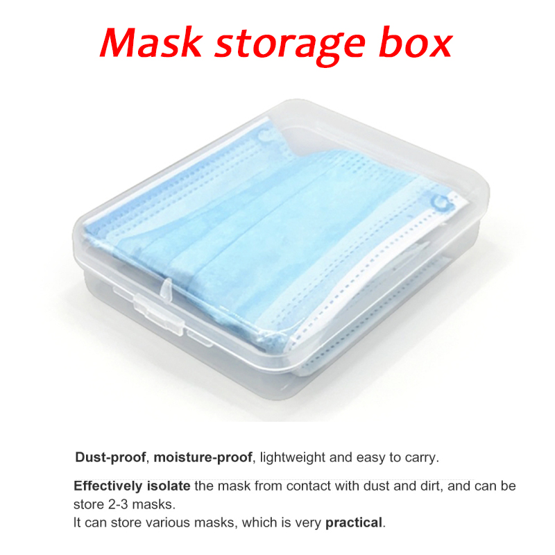 Portable Dustproof Mask Storage Case Disposable Face Masks Container Safe Pollution-Free Protection Jewelry Packaging Reuse