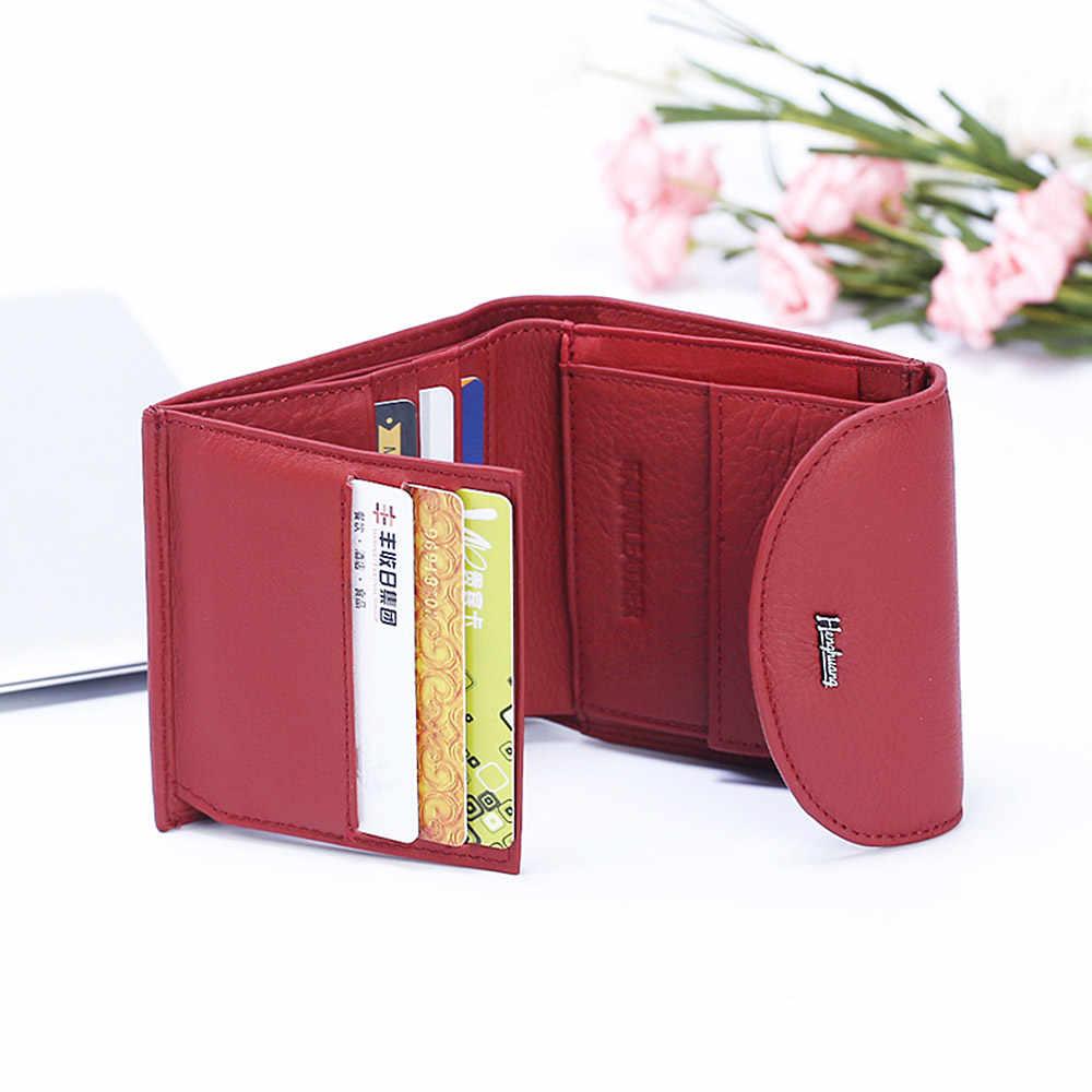 ¡Nuevo! ¡2019! Mini carteras de cuero genuino para mujeres, carteras pequeñas para damas, monederos para monedas, portatarjetas de diseño, cartera delgada para dinero