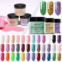 Azure Beauty Glitter Nail Dip Powders Shiny Nail Art Dipping Powder Gradient Colors Nail Decoration Powder Need Base Gel Top
