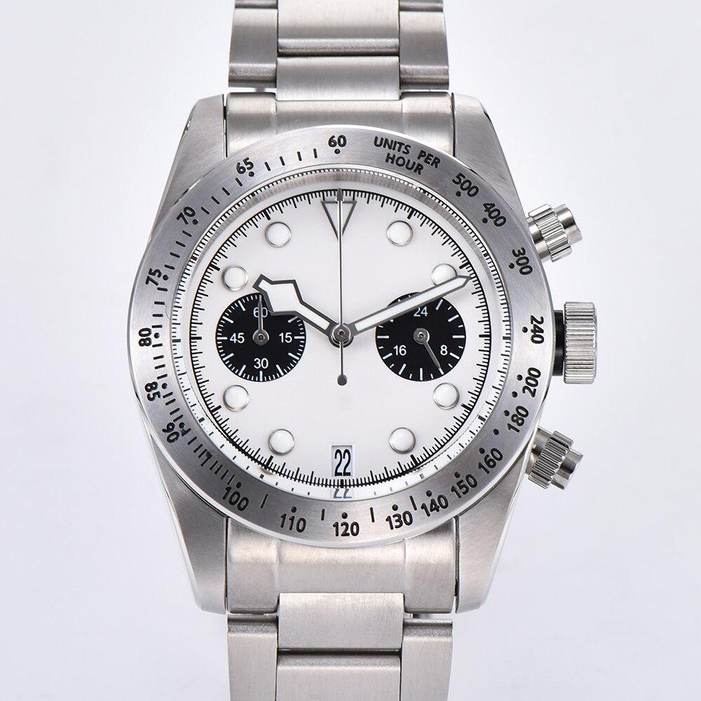2019 новые мужские часы 41 мм Schwarz Bay 79350 хронограф кварцевые японские MIYOTA VK64 Move Мужские t 316L чехол из нержавеющей стали часы