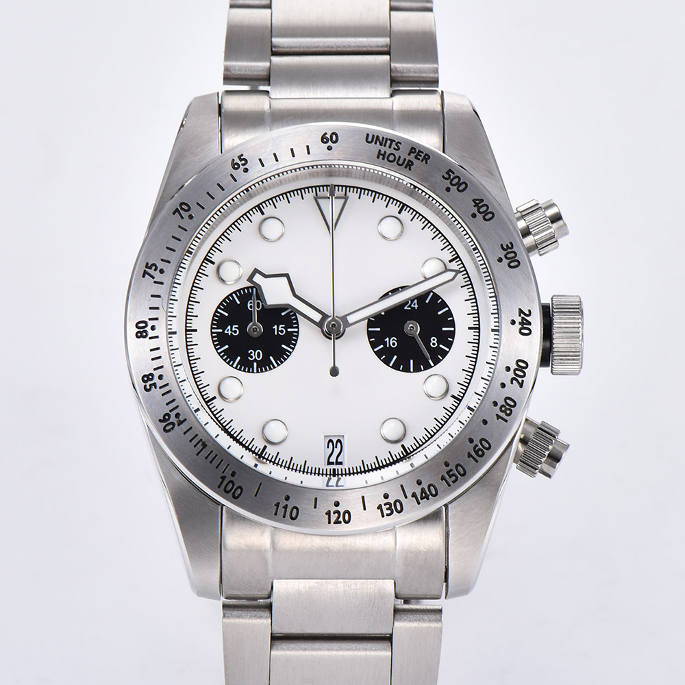 2019 Nouvelle montre pour hommes 41mm Schwarz Baie 79350 Chronographe Quartz Mouvement Japonais 316L boîte en acier inoxydable multi-fonction Montre