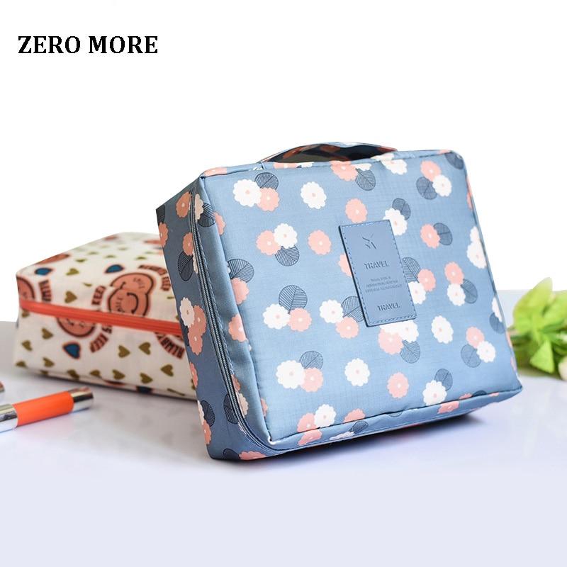 Cosmetic-Bag Toiletries-Organizer Travel ZERO Waterproof Storage Women MORE Multifunction