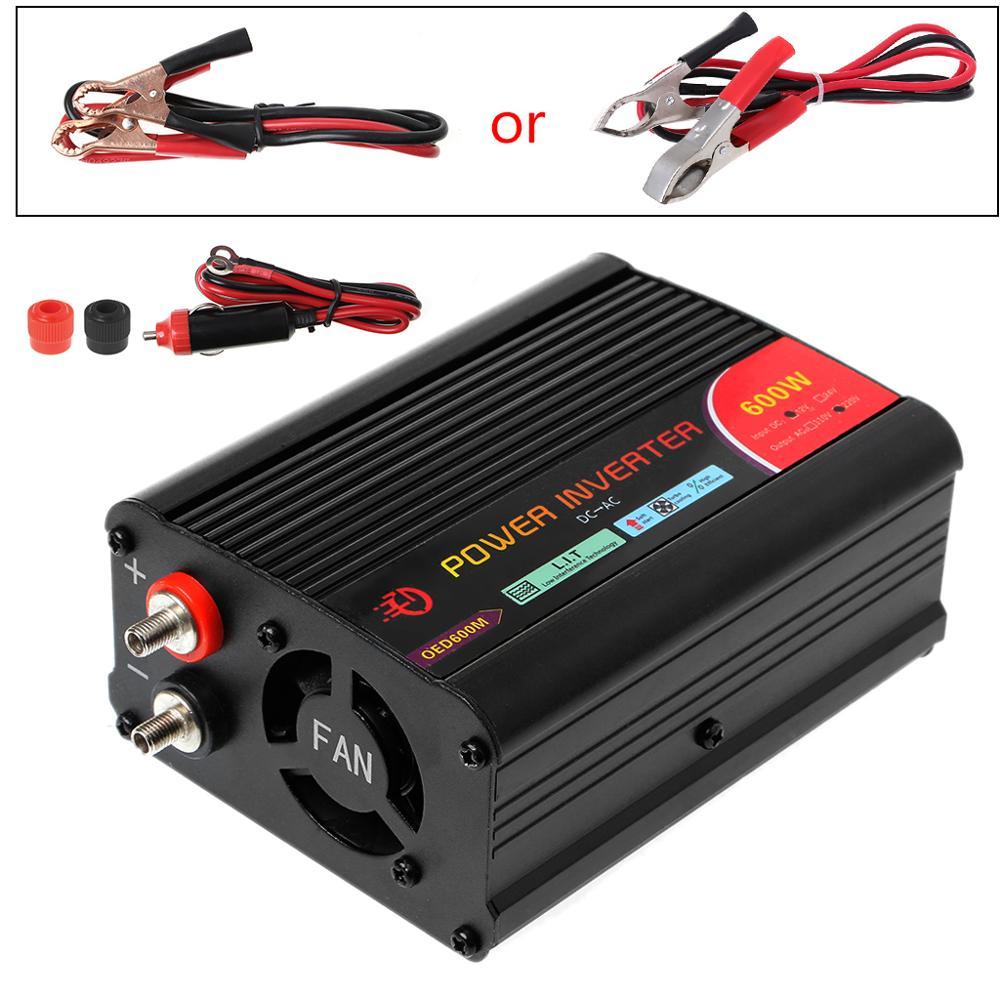OOTDTY 300 Вт/400 Вт/500 Вт/600 Вт Преобразователь мощности DC 12 В до 220 В AC автомобильный инвертор с автомобильным адаптером