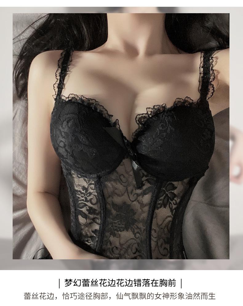 sexy lace dress black