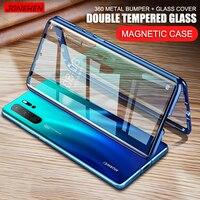 360 Magenti Adsorption Metall Fall Für Huawei P20 P30 Mate 10 20 30 Pro Honor 10 Lite V10 V20 V30 20i Hinweis 10 Glas Abdeckung Bildschirm