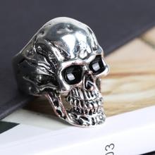 FDLK     Vintage Gothic Punk Jewelry High Detail Skull Skeleton Ring Mens Biker Punk Ring US Size 7 ~ 14 925 sterling silver black olive eyes skull mens biker rocker punk ring 9g203 us size 7 to 14