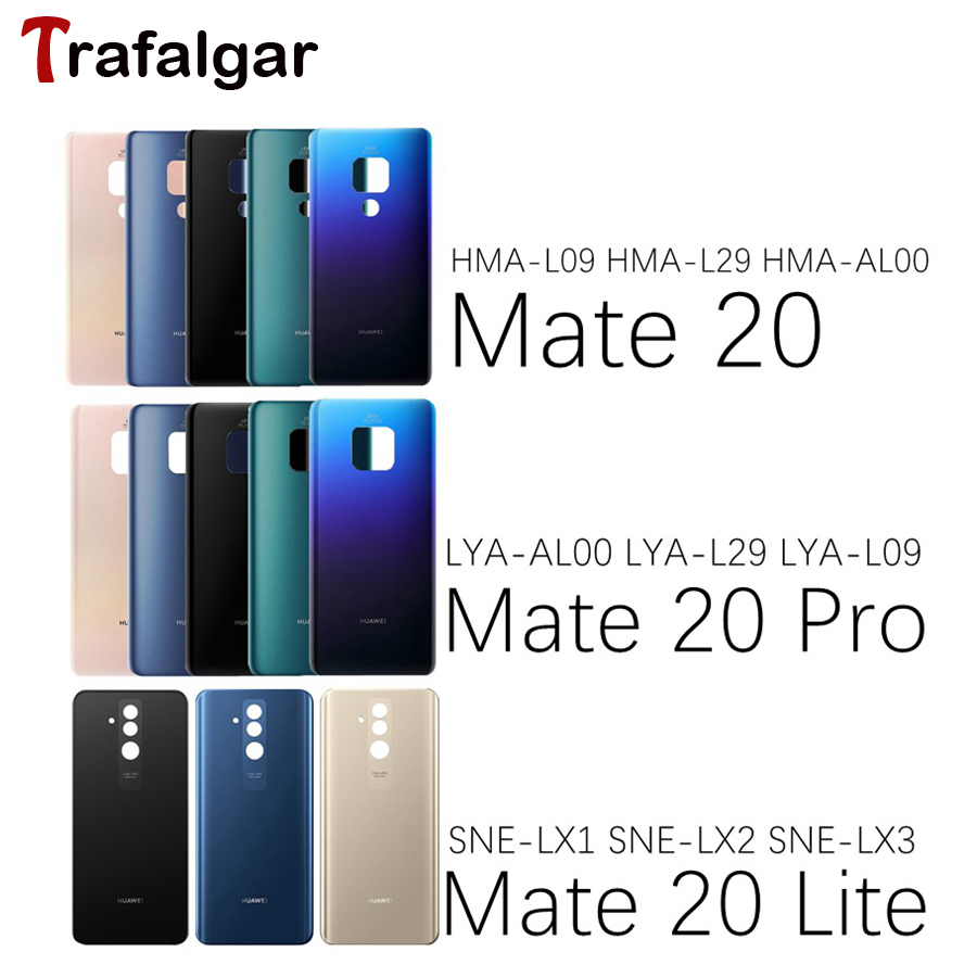 Housing-Case Battery-Cover Mate Huawei Door 20-Lite Replace Glass-Panel Back Rear