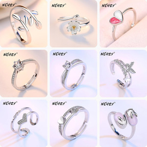 NEHZY 925 sterling silver Jewelry New Opening Ring Fashion Woman High Quality Retro Heart Shaped Kitten Cubic Zirconia Ring