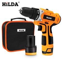 HILDA 12V Elektrische Bohrer Elektrische Schraubendreher Akkuschrauber wiederaufladbare lithium akku bohrschrauber Power Tools