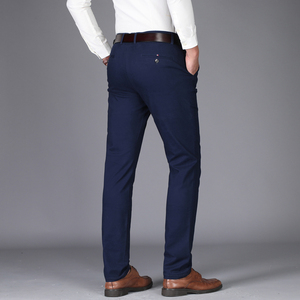 Image 2 - NIGRITY 2020 Autumn Mens Casual Pants High Quality Classics Fashion Male Cotton Trousers Business Formal Mens Office Long Pants