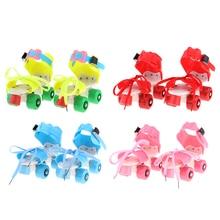 Детские Классические четырехколесные роликовые коньки, 4 колеса, уличные, для внутреннего баланса