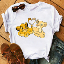 New Lovely Lion King Women Tshirts Cartoon Printed Tees Funny Harajuku Female T