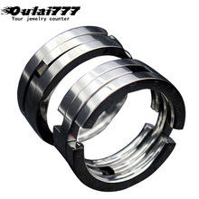 Oulai777 ring men stainless steel lord of the black rings adjustable stackable for silver color punk vintage jewelry