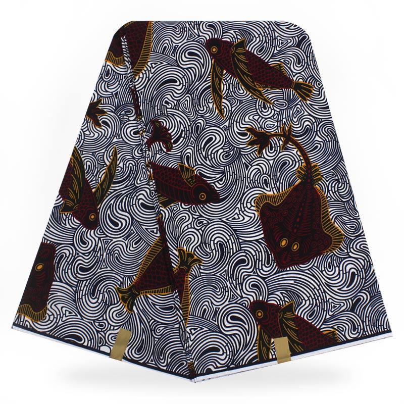 African Real Wax Fabric Ankara Print 100% Cotton Super Wax Fabrics Pange 6yards High Quality For Dress