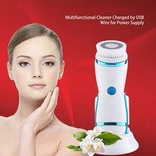 Electric Face Wash Ultrasonic Cleansing Instrument Multi-Function Usb Waterproof Cleansing Brush Electronic Beauty Instrument ultrasonic face wash electric wash artifact cleansing instrument wash pores cleaner multi function wash brush