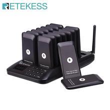 Retekess TD157 Restaurant Pager Mit 16 Empfänger Und Touch Tastatur Unterstützung 997 Beepers Für Kirche Klinik Pager Restaurant