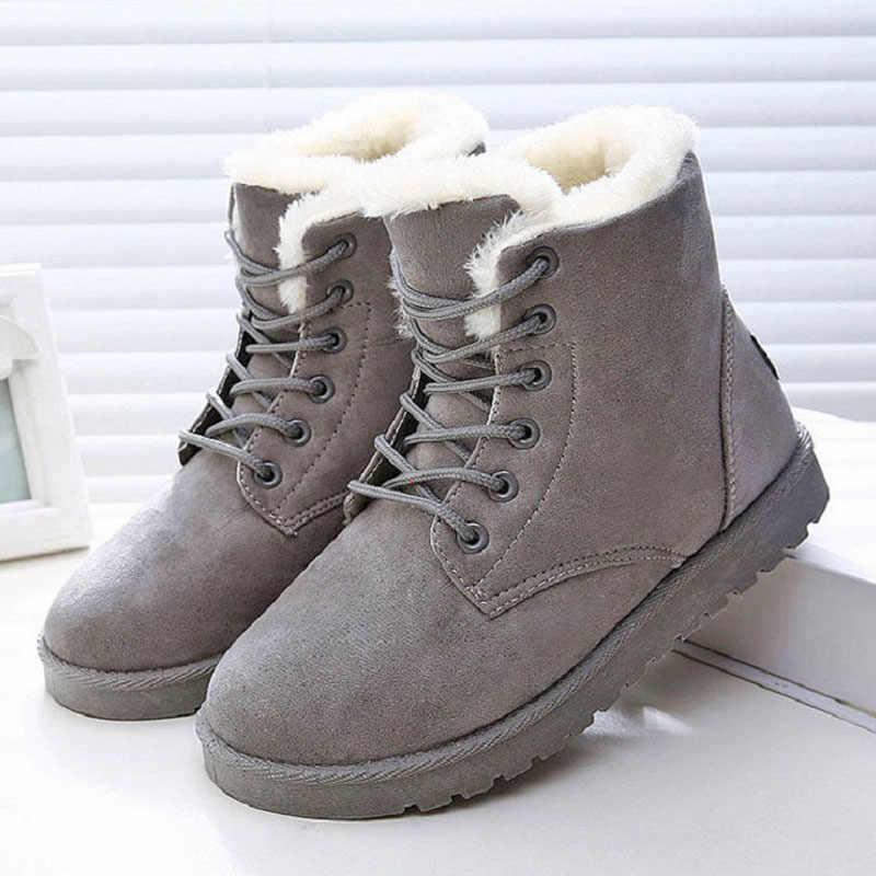 2019 Hot Vrouwen Laars Winter Sneeuw Boot Vrouwen Schoenen Winter Enkellaars Voor Vrouwen Bont Winter Laarzen Vrouwelijke Plus Size 43 Botas Mujer