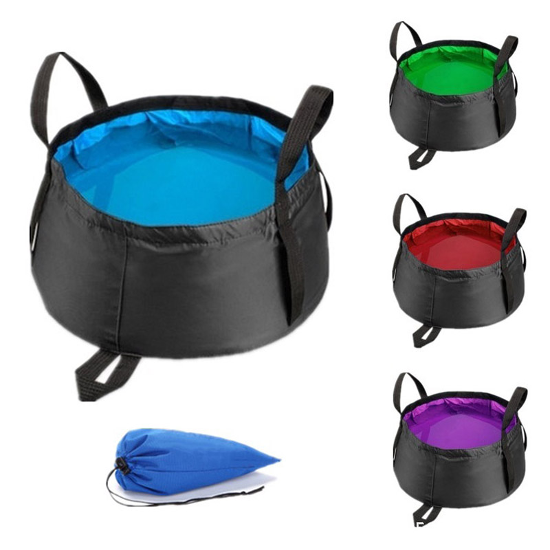 8.5L-12L Ultra-light Portable Foldable Folding Washbasin Basin Outdoor Survival Travel Camping Equipment Hiking Accessories Pakistan
