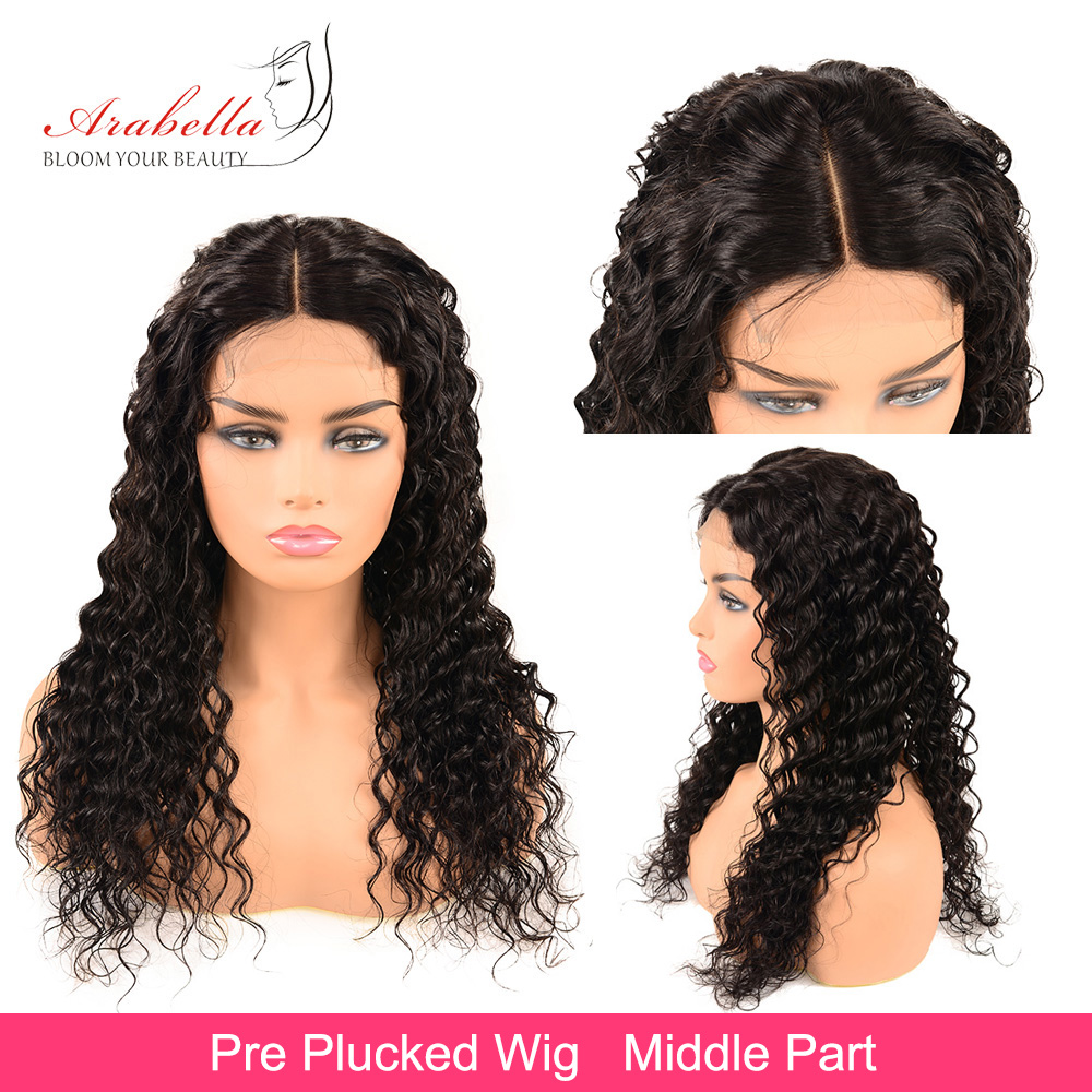 Deep Wave Lace Front Wig 100%  Wigs With Baby Hair PrePlucked Arabella  Hair Wig 13x4 Lace Front Wig 5