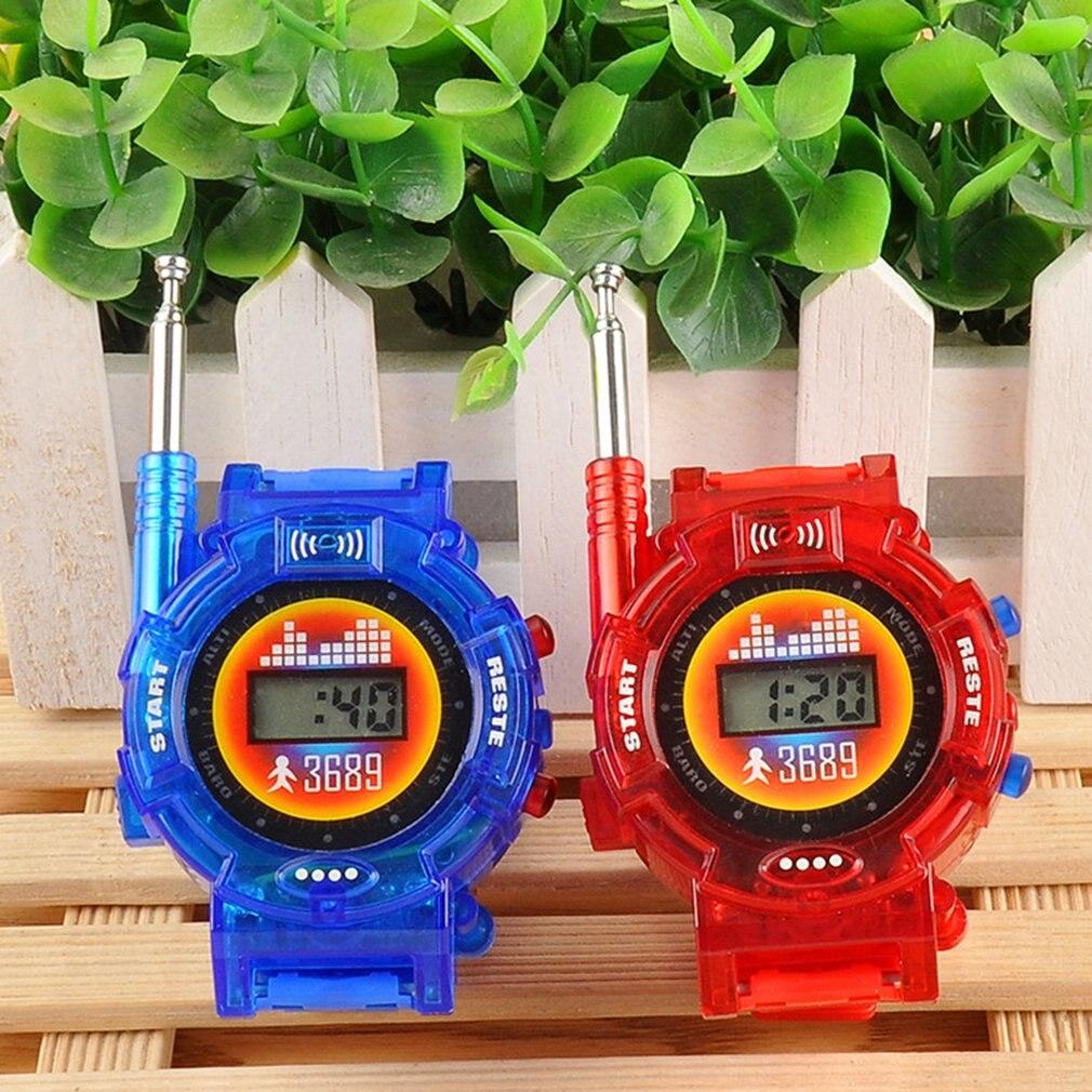 7 в 1 рации часы электронные Радио переговорные часы Детские уличные игрушки Подарок детская игра гаджет трансформатор часы