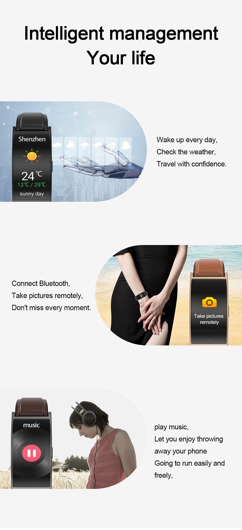 dip67 água inteligente pulseira painel de toque