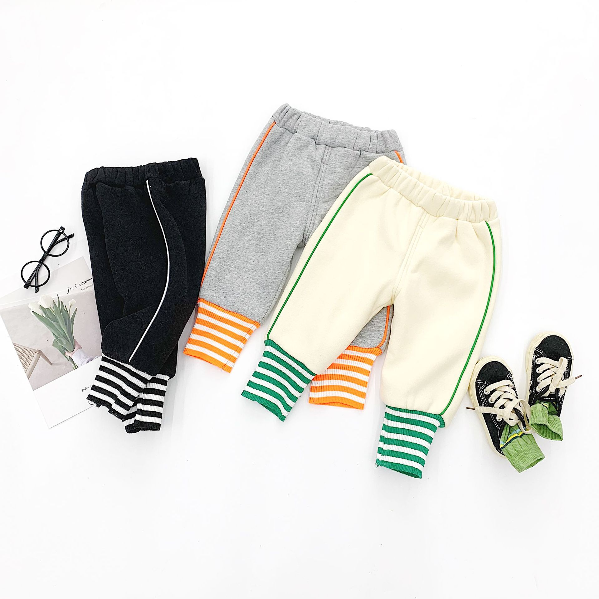 Begall Baby Baby Bottoms 2019 New Arrive Fashion Sports Pants for Children Winter Casual Trouses Print Striped Winter for Kids|Pants| |  - title=