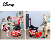 Disney Car Walker Toy Child Twist Car Baby Toddler Walker Suitable For 1 3 Years Old Baby Stroller Can Sit With Awning Walker