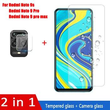 Перейти на Алиэкспресс и купить 2 в 1 закаленное стекло для Xiaomi Redmi Note 9 Pro/Note 9 Pro Max/Note 9S Защитная пленка для экрана камеры для redmi note 9 pro стекло