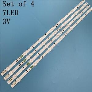 Image 2 - Nuovo 4 PCS 7LED 647 millimetri striscia di retroilluminazione a LED per Samsung UE32J5500AK D4GE 320DC1 R2 D4GE 320DC1 R1 Bn96 30443A 30442A 2014SVS32FHD