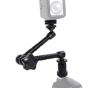 Image 5 - 11 인치 조정 가능한 굴절 식 매직 암 및 클램프 모니터 용 관절 암 사진 카메라 용 LCD 비디오 용 LED 라이트
