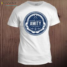 Amity Island Jaws Inspired Movie Hollywood Shark Film T Shirt