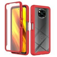 Pocophone X3 Poco X3 NFC Pro, cubierta de protección a prueba de golpes, 360 pantalla transparente, cobertura completa, 3 en 1, funda de teléfono para Xiaomi